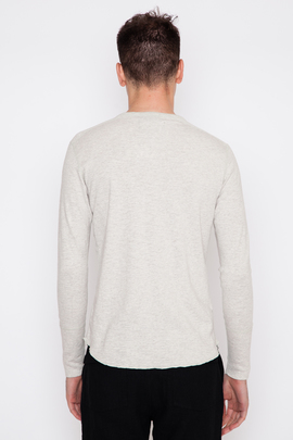 Wings + Horns Heather Ash Base L/S Henley SS16