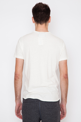 Wings + Horns White Silk Jersey S/S T-Shirt