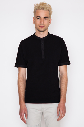 Helmut Lang Spring Pique Uni Sleeve Polo