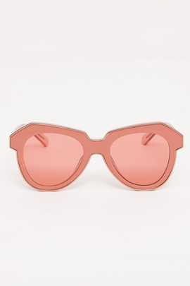 Karen Walker Rose Pink One Astronaut Sunglasses