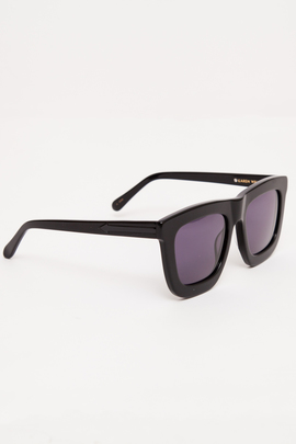 Karen Walker Black Deep Worship Sunglasses